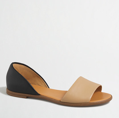 Factory Colorblock Peep Toe d'Orsay Flats
