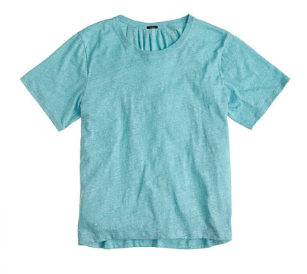 JCrew Pleated Back Tee