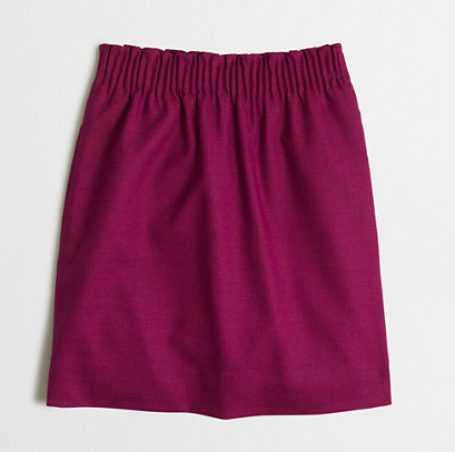 JCrew Factory Mini Skirt in Fresh Raspberry