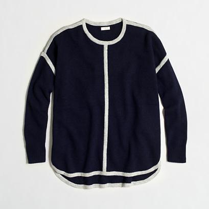 JCrew Factory Tipped Oversized Sweater